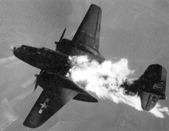 B26 in fire