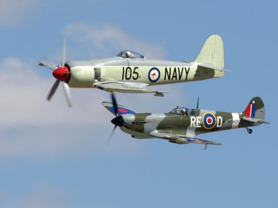 Hawker Sea Fury - Supermarine Spitfire