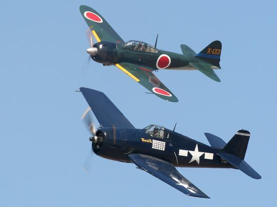F6F Hellcat - A6M Zéro