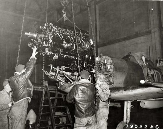 spitfire engine rolls-royce merlin removal